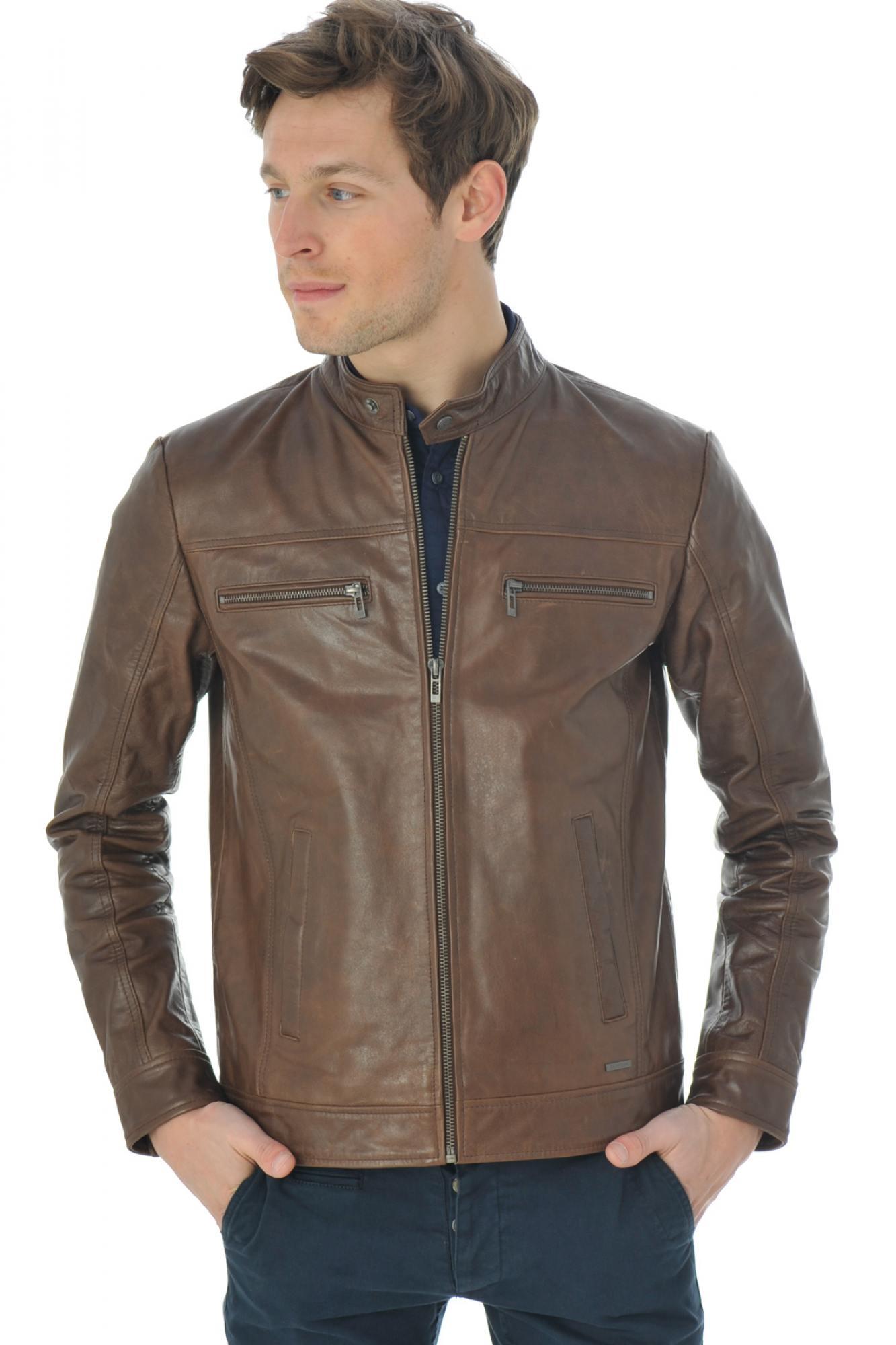 Blousons en cuir Cityzen Leather Atlanta cognac Blousons